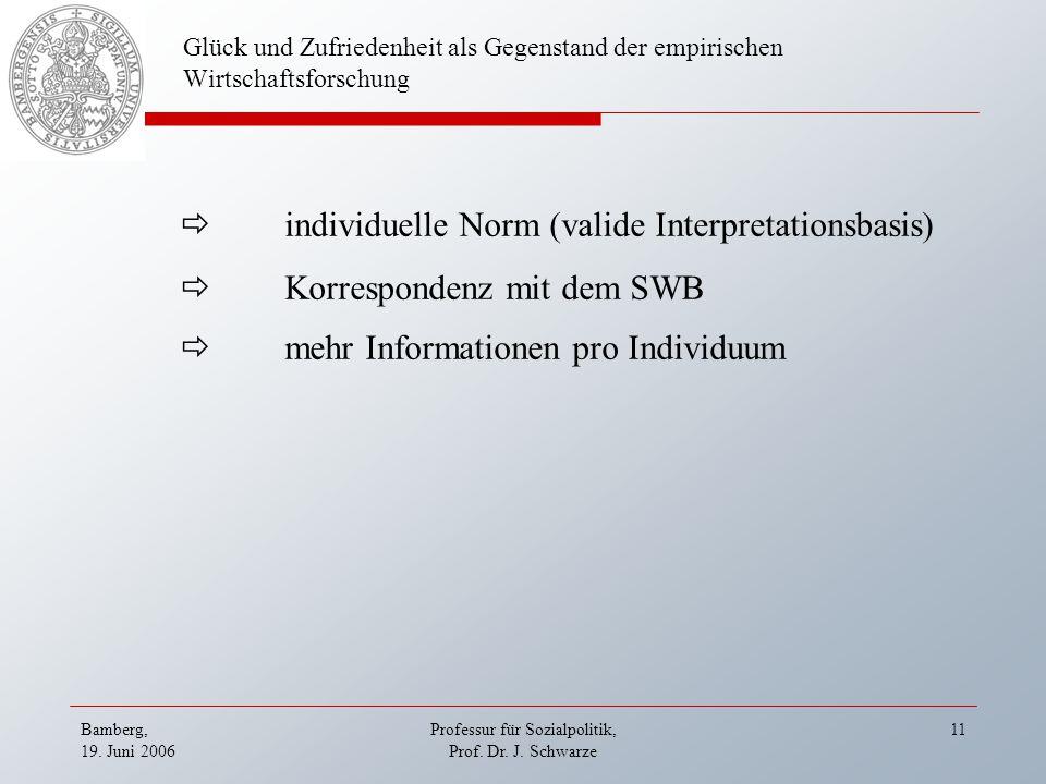 Bamberg, 19. Juni 2006 Professur für Sozialpolitik, Prof.