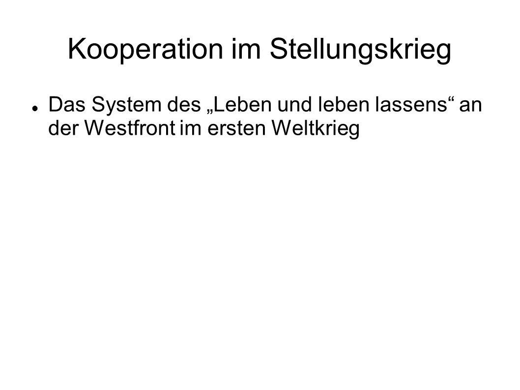 """Kooperation im Stellungskrieg Das System des """"Leben und leben lassens an der Westfront im ersten Weltkrieg"""