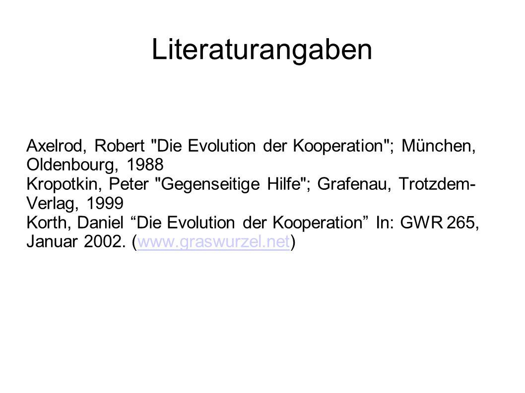 Literaturangaben Axelrod, Robert
