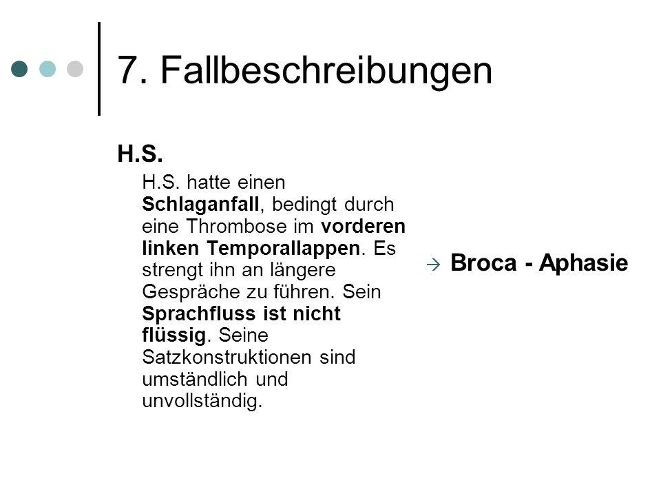 7.Fallbeschreibungen H.S. H.S.