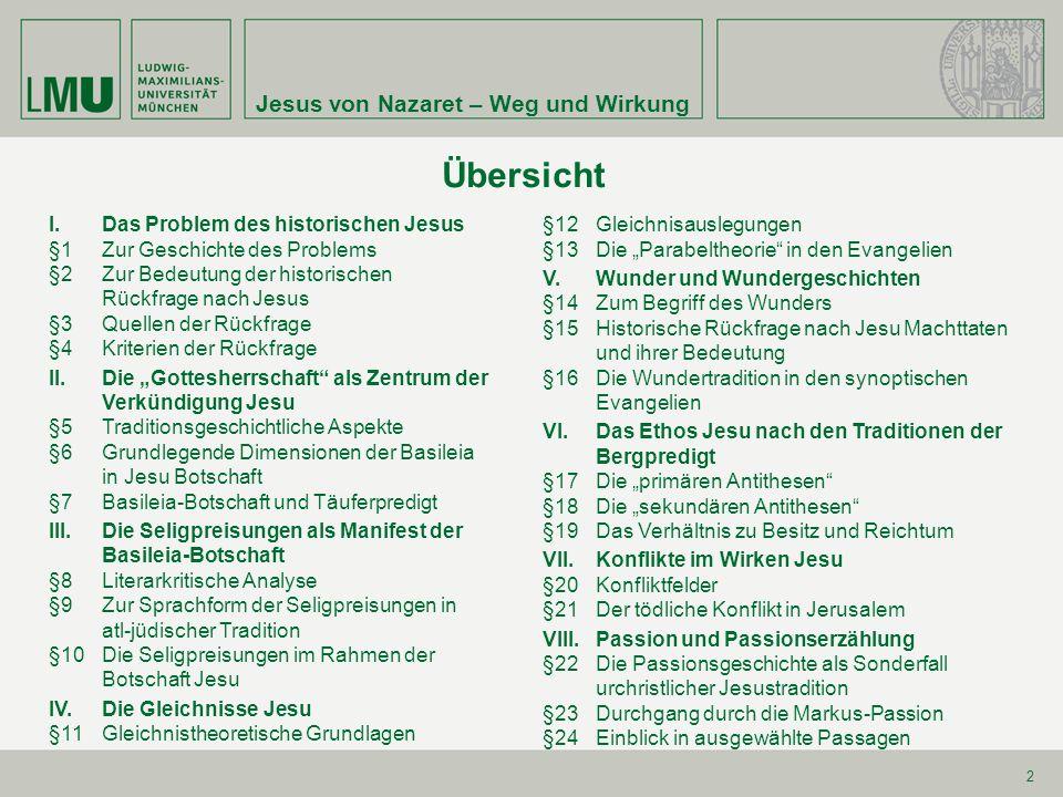 Jesus von Nazaret – Weg und Wirkung§1 3 Phasen der Jesusforschung Liberale Leben-Jesu-Forschung (19.