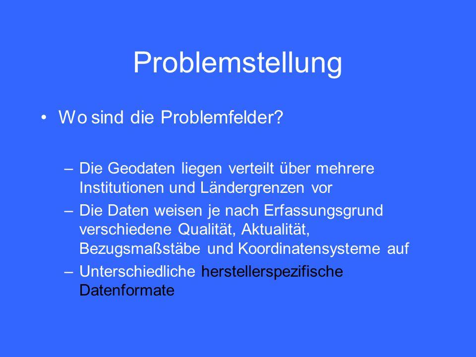 Problemstellung Wo sind die Problemfelder.
