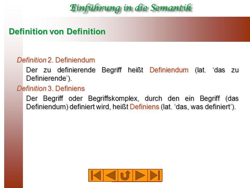 Definition von Definition Definition 2.
