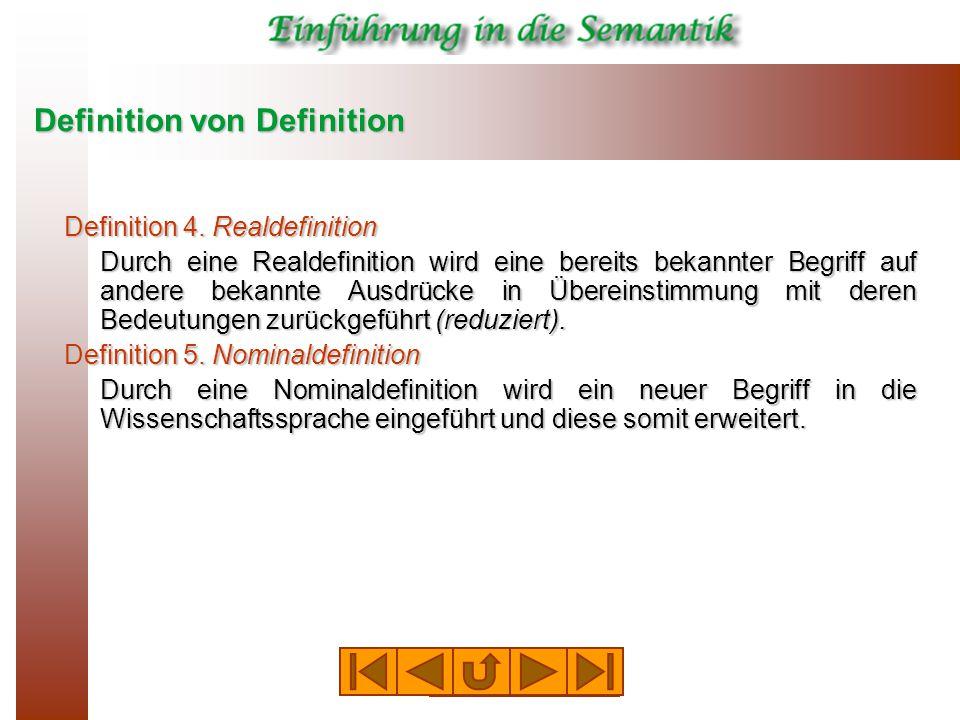 Definition von Definition Definition 4.