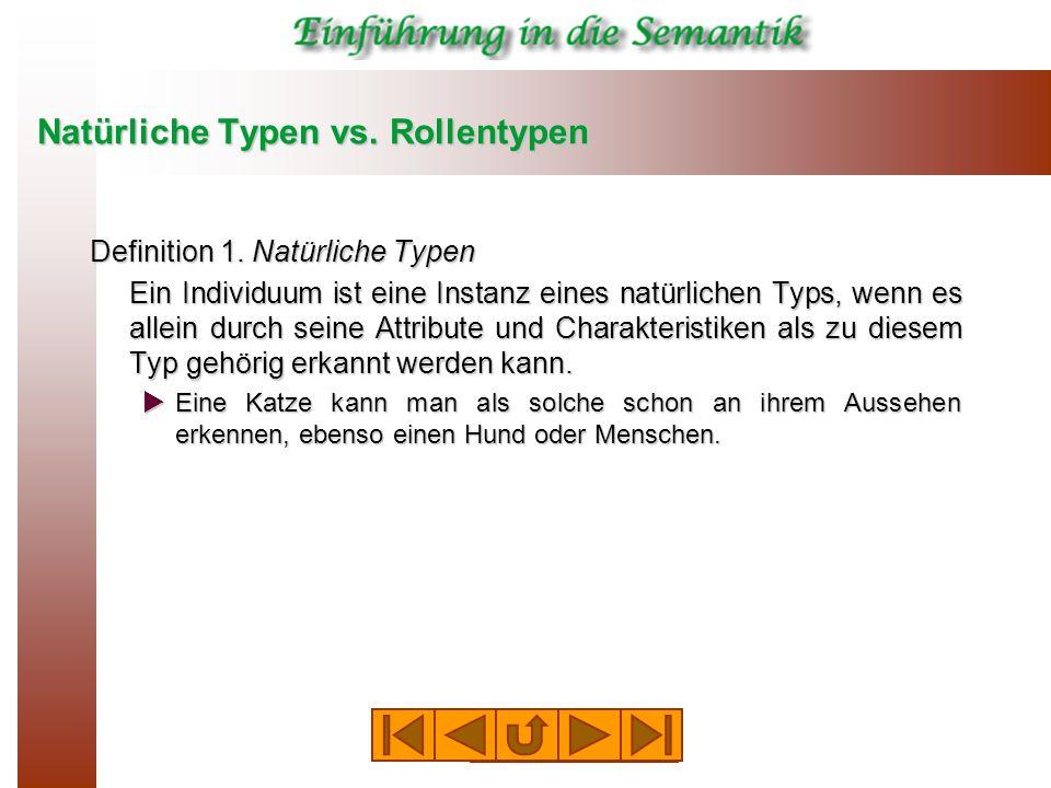 Natürliche Typen vs. Rollentypen Definition 1.