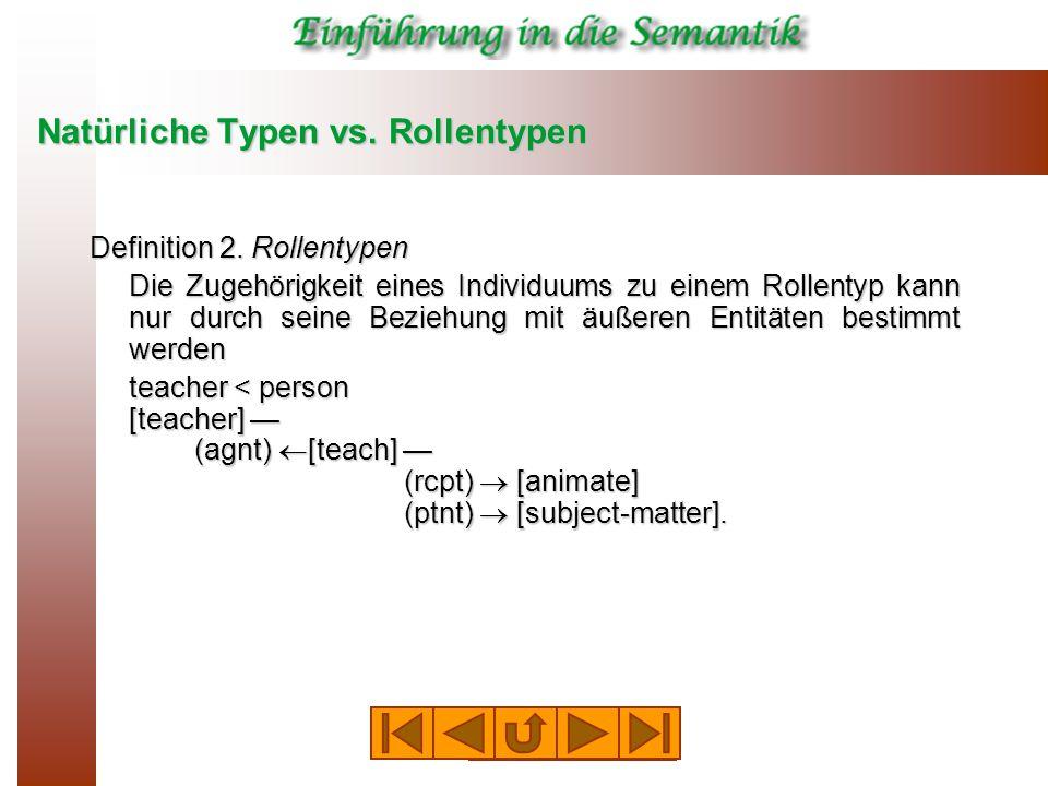 Natürliche Typen vs. Rollentypen Definition 2.