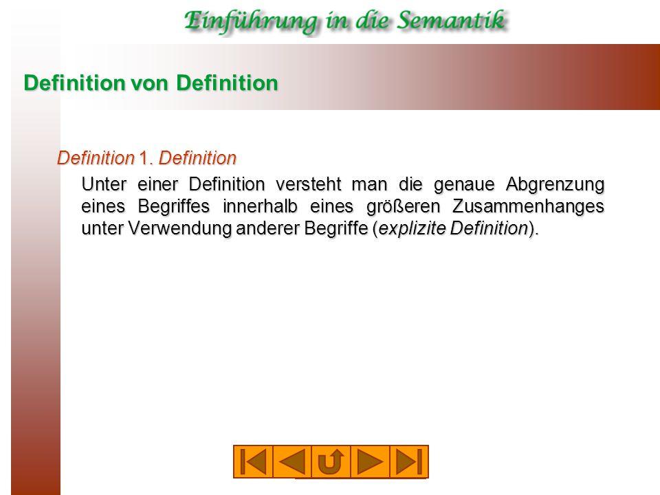 Definition von Definition Definition 1.