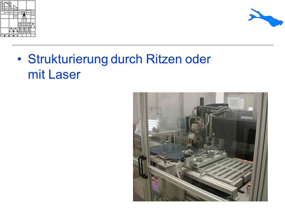 Strukturierung durch Ritzen oder mit Laser
