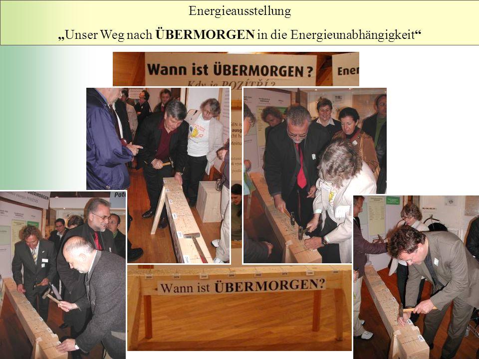 """Energieausstellung """"Unser Weg nach ÜBERMORGEN in die Energieunabhängigkeit"""""""