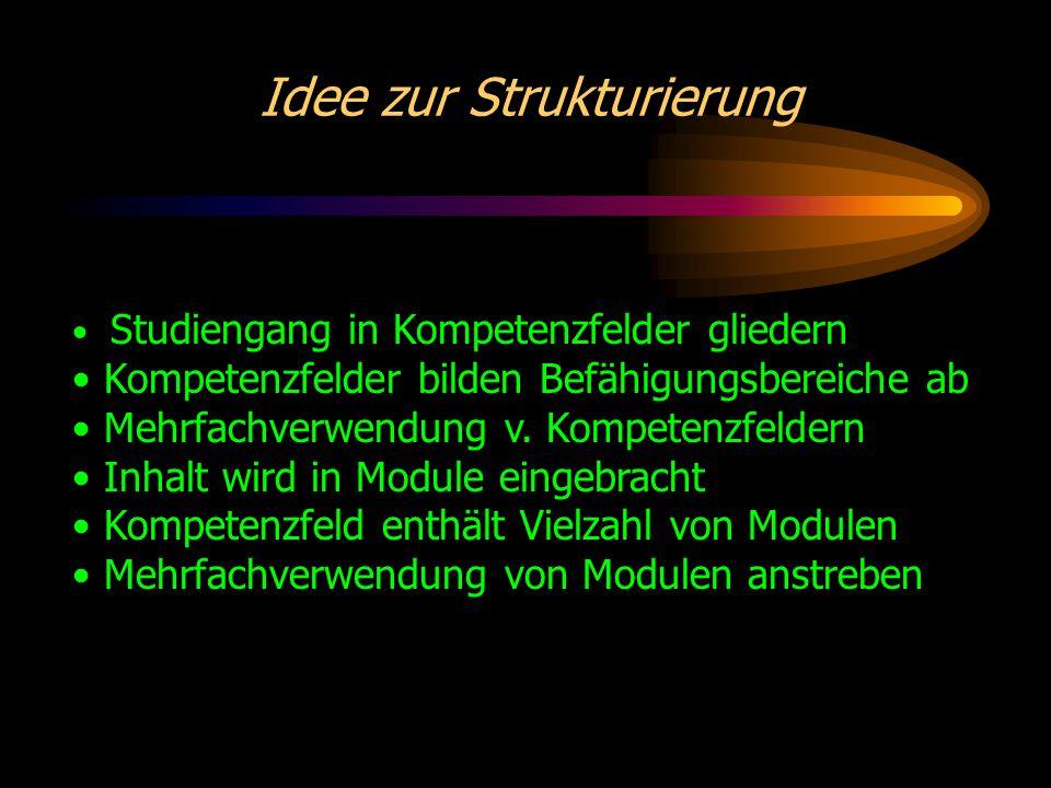 Beispiel zur Strukturierung Studiengang: Wirtschaftsinformatik Kompetenzfeld: IT-Management Modul: Change-Management