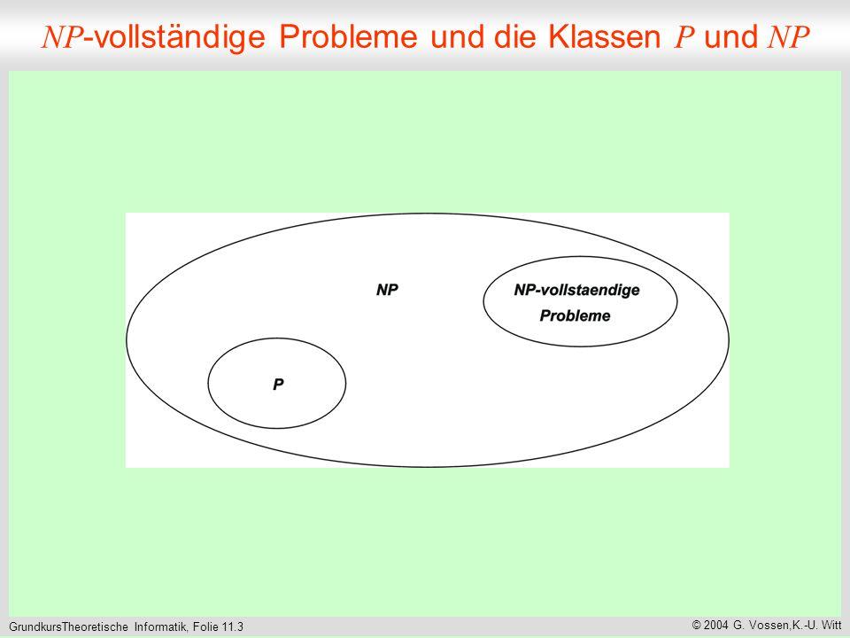 GrundkursTheoretische Informatik, Folie 11.3 © 2004 G.