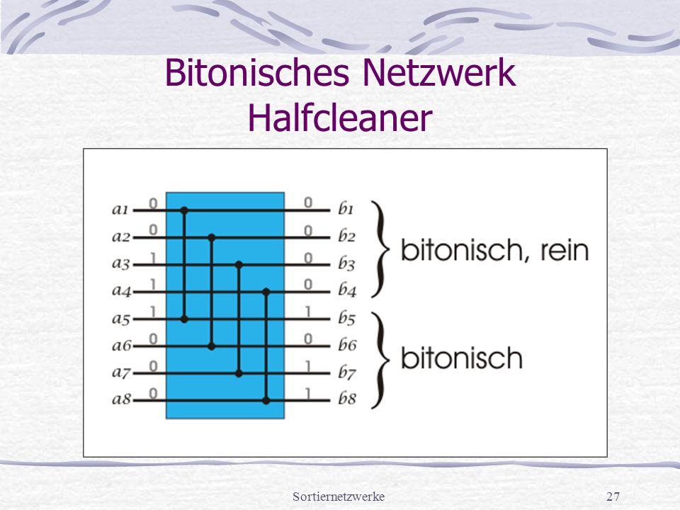 Sortiernetzwerke27 Bitonisches Netzwerk Halfcleaner