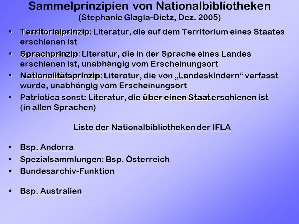 Sammelprinzipien von Nationalbibliotheken (Stephanie Glagla-Dietz, Dez.