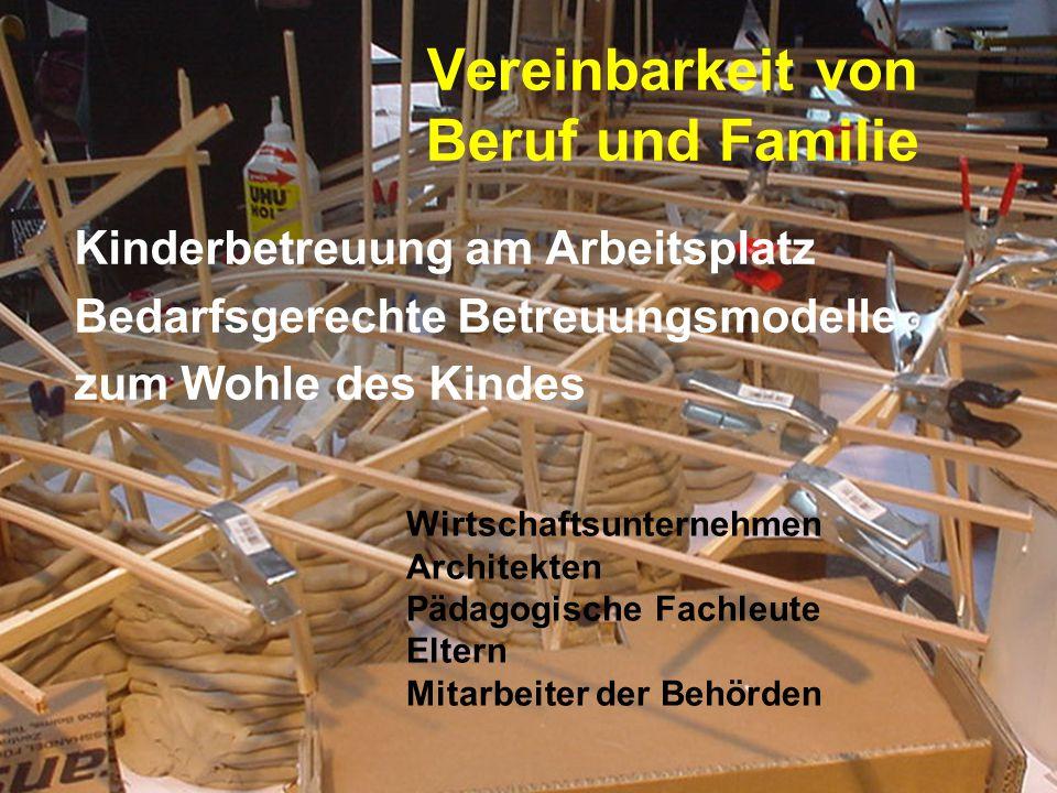 Vereinbarkeit von Beruf und Familie Kinderbetreuung am Arbeitsplatz Bedarfsgerechte Betreuungsmodelle zum Wohle des Kindes Wirtschaftsunternehmen Arch