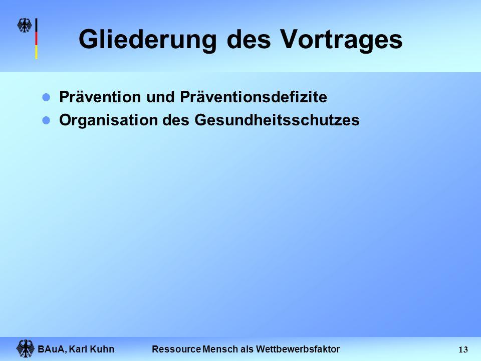 BAuA, Karl Kuhn12Ressource Mensch als Wettbewerbsfaktor Überwachen, Steuern von Maschinen als Arbeitstätigkeit