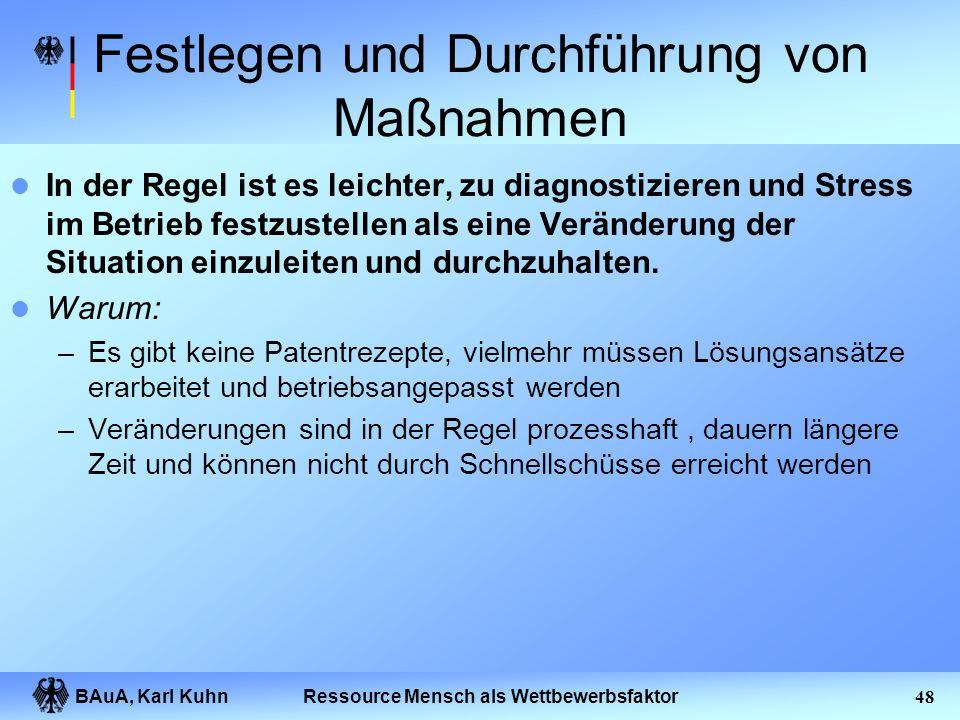 BAuA, Karl Kuhn47Ressource Mensch als Wettbewerbsfaktor