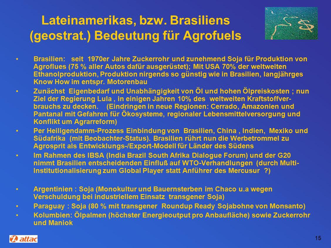 15 Lateinamerikas, bzw.