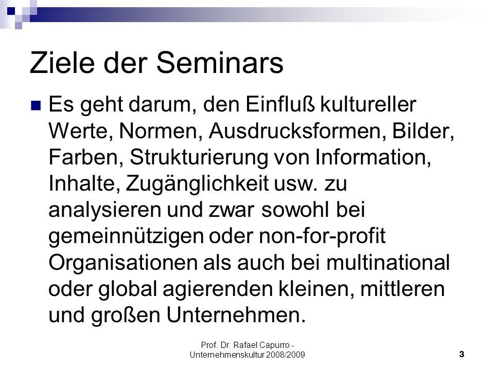 """Prof.Dr. Rafael Capurro - Unternehmenskultur 2008/200914 Relevanz des Themas """"Techno trances."""