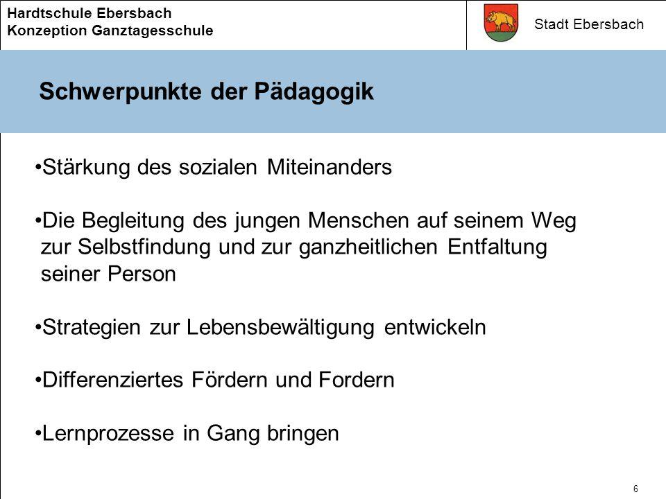 Stadt Ebersbach Hardtschule Ebersbach Konzeption Ganztagesschule 5 Ganztagesschule für Ebersbach Kinder fürs Leben stark machen