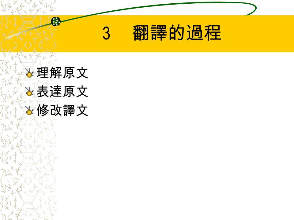 4 翻譯與用詞 多義詞的詞譯之理解 同義詞的選擇