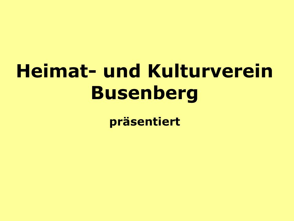 Heimat- und Kulturverein Busenberg präsentiert