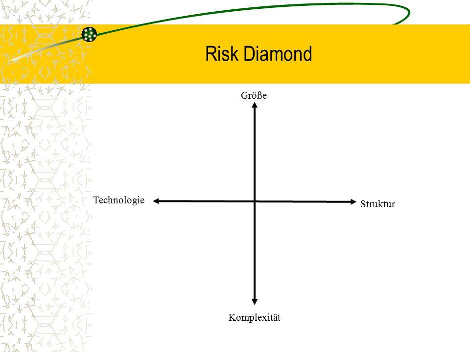 Risk Diamond Größe Komplexität Struktur Technologie