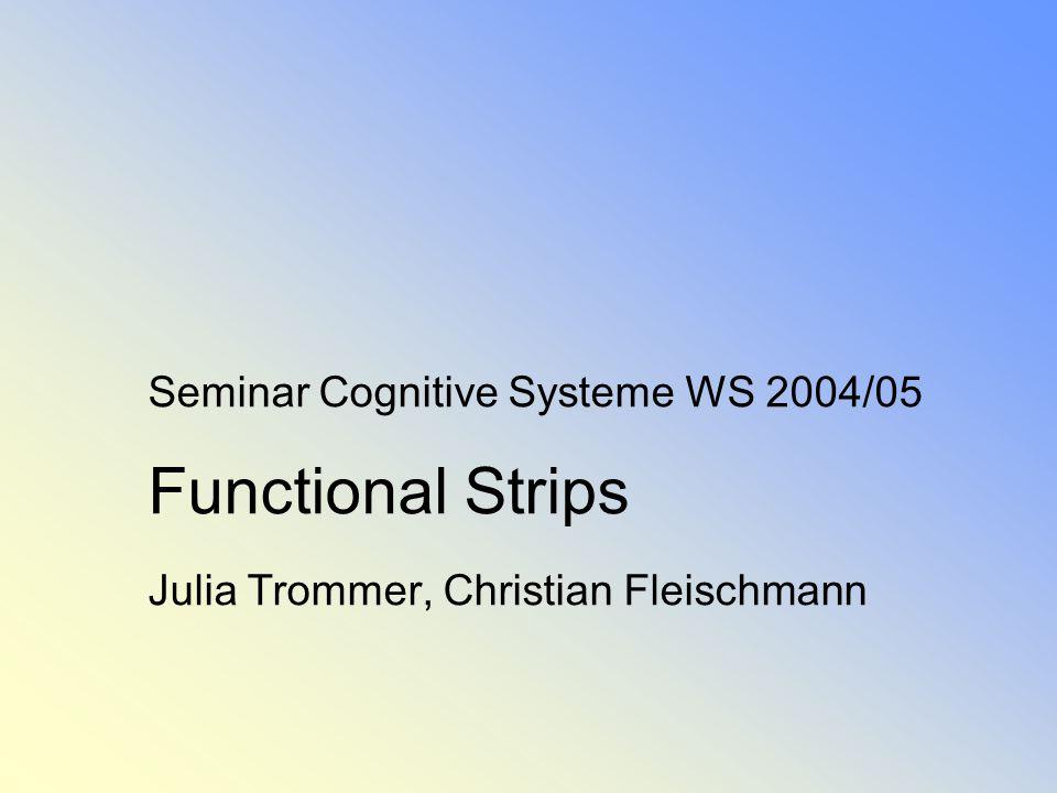 Seminar Cognitive Systeme WS 2004/05 Functional Strips Julia Trommer, Christian Fleischmann