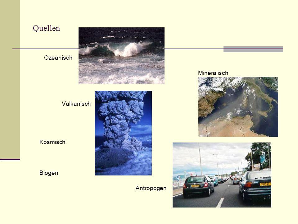 Quellen Ozeanisch Mineralisch Vulkanisch Kosmisch Biogen Antropogen