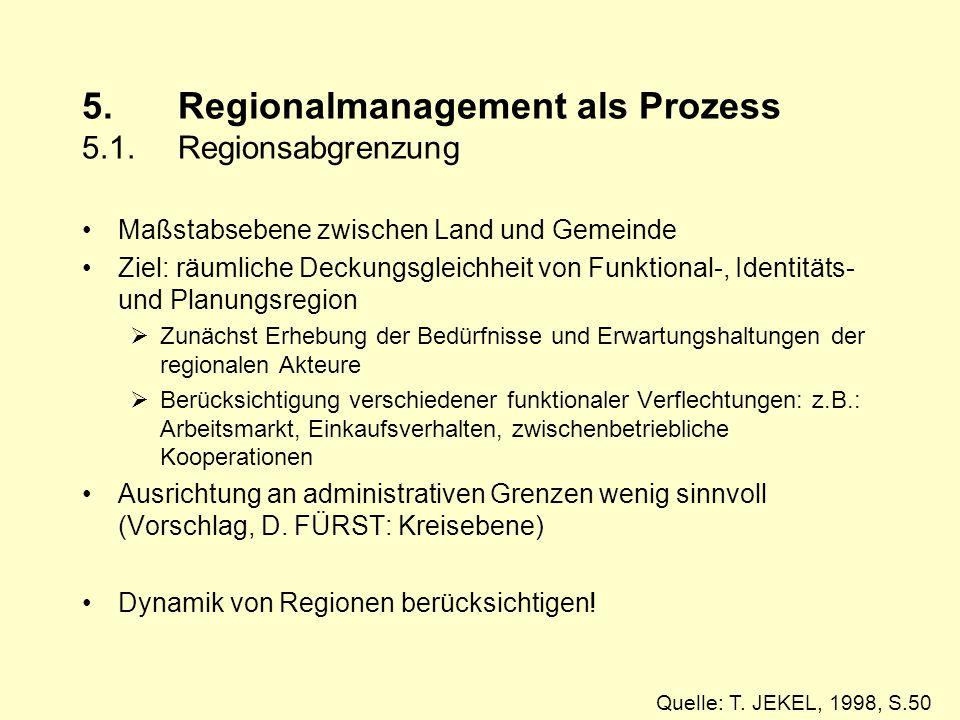 5.Regionalmanagement als Prozess 5.1.