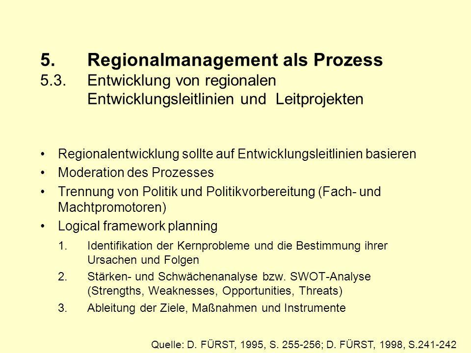 5.Regionalmanagement als Prozess 5.3.