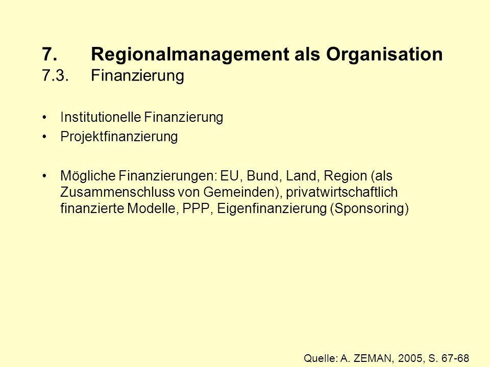 7.Regionalmanagement als Organisation 7.3.