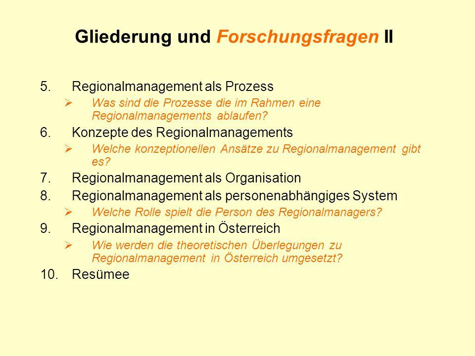5.Regionalmanagement als Prozess  Was sind die Prozesse die im Rahmen eine Regionalmanagements ablaufen.