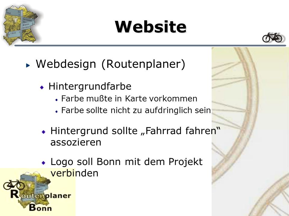 Website Webdesign (Startseite) Grundlage - Umriß der Stadt Füllung - Foto aus der Stadt Zusammenführung mit Grafikprogramm Motive aus Bonn verwenden Suche mit der Digitalkamera nach geeigneten Bildern aus der Stadt ergibt...