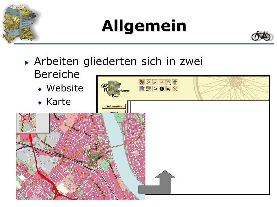 Gestaltung Navigation Technik Daten