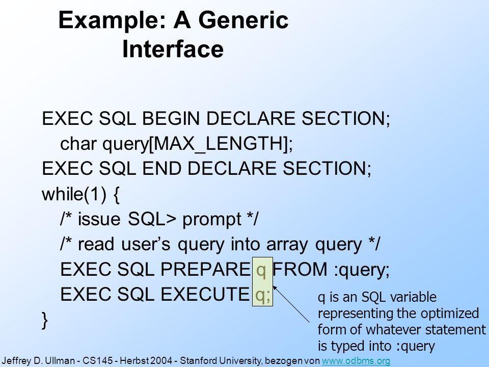 Vorteile CLI zu ESQL Kein Precompiler nötig.