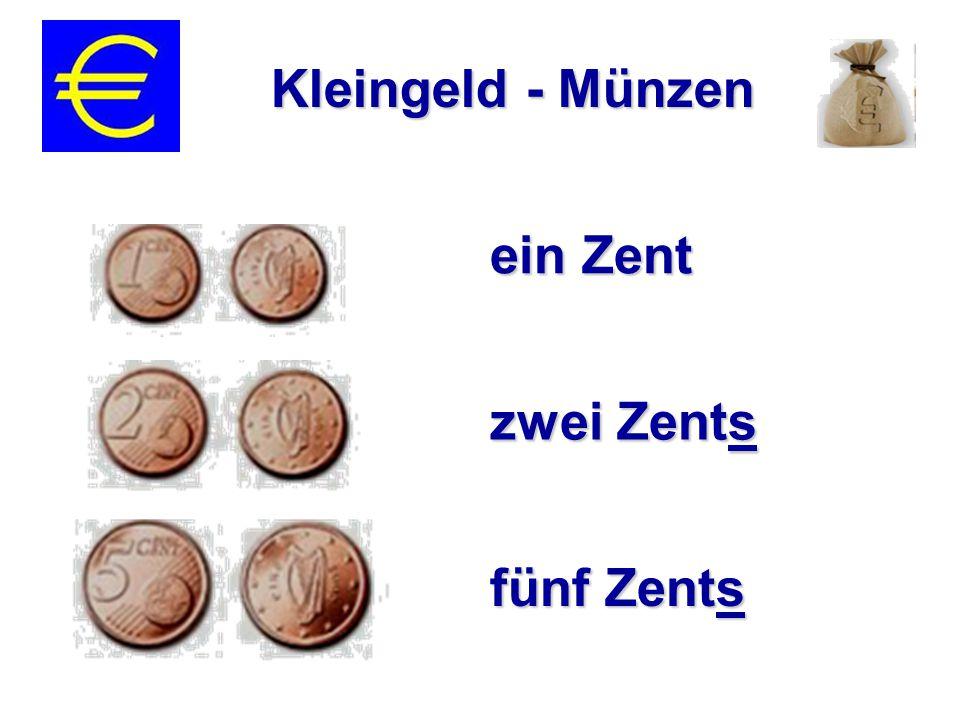 ein Zent zwei Zents fünf Zents Kleingeld - Münzen