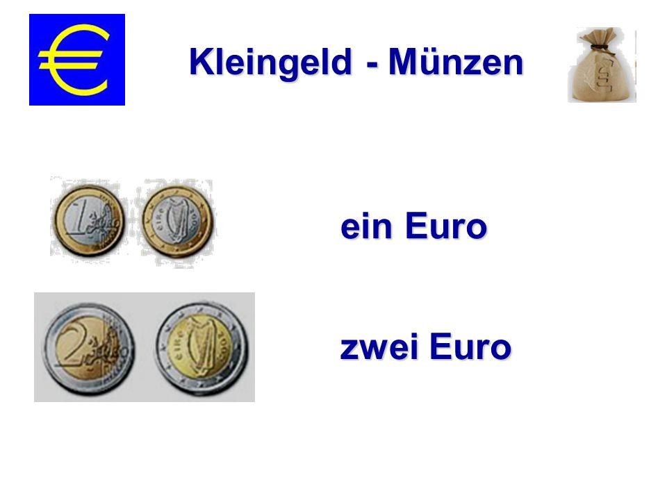 ein Euro zwei Euro Kleingeld - Münzen