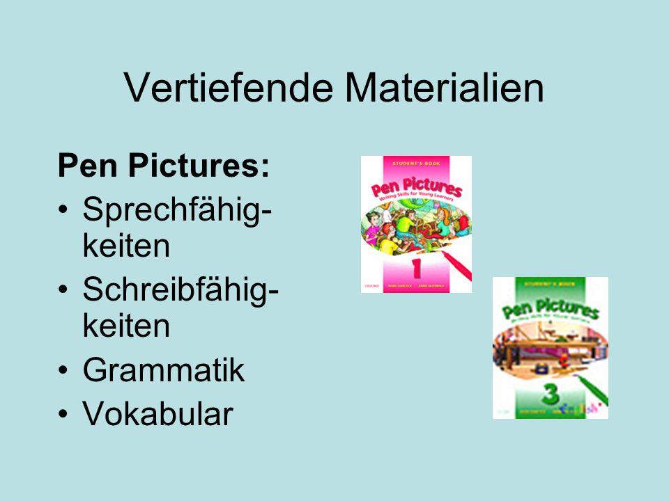 Vertiefende Materialien Pen Pictures: Sprechfähig- keiten Schreibfähig- keiten Grammatik Vokabular