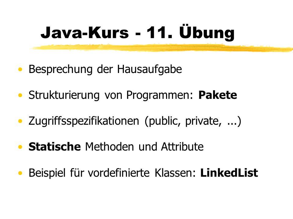 Java-Kurs - 11.