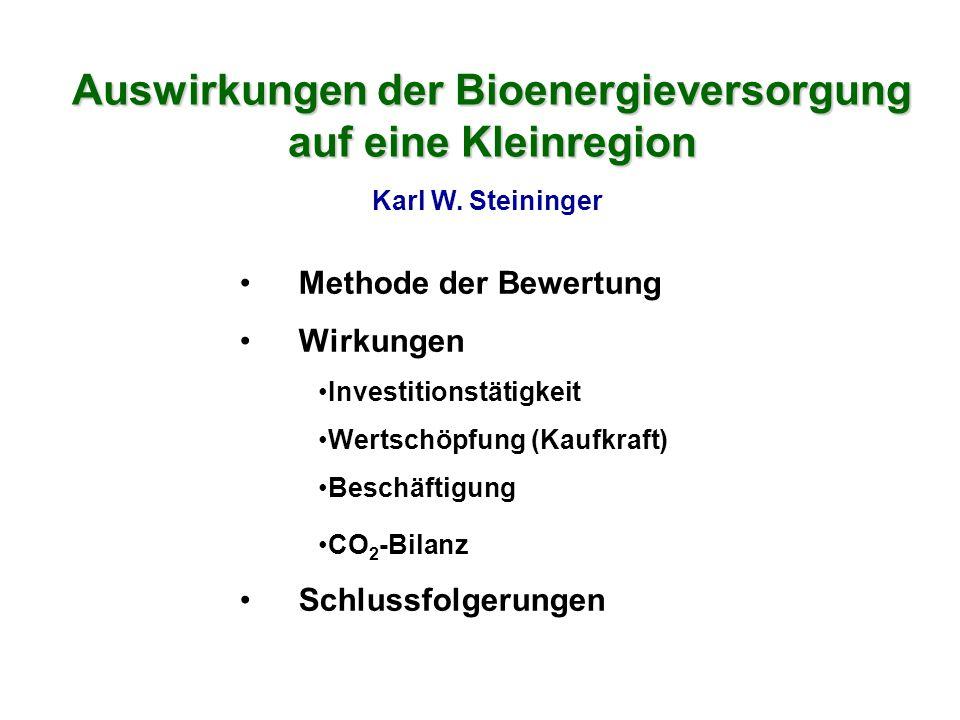 Auswirkungen der Bioenergieversorgung auf eine Kleinregion Karl W.