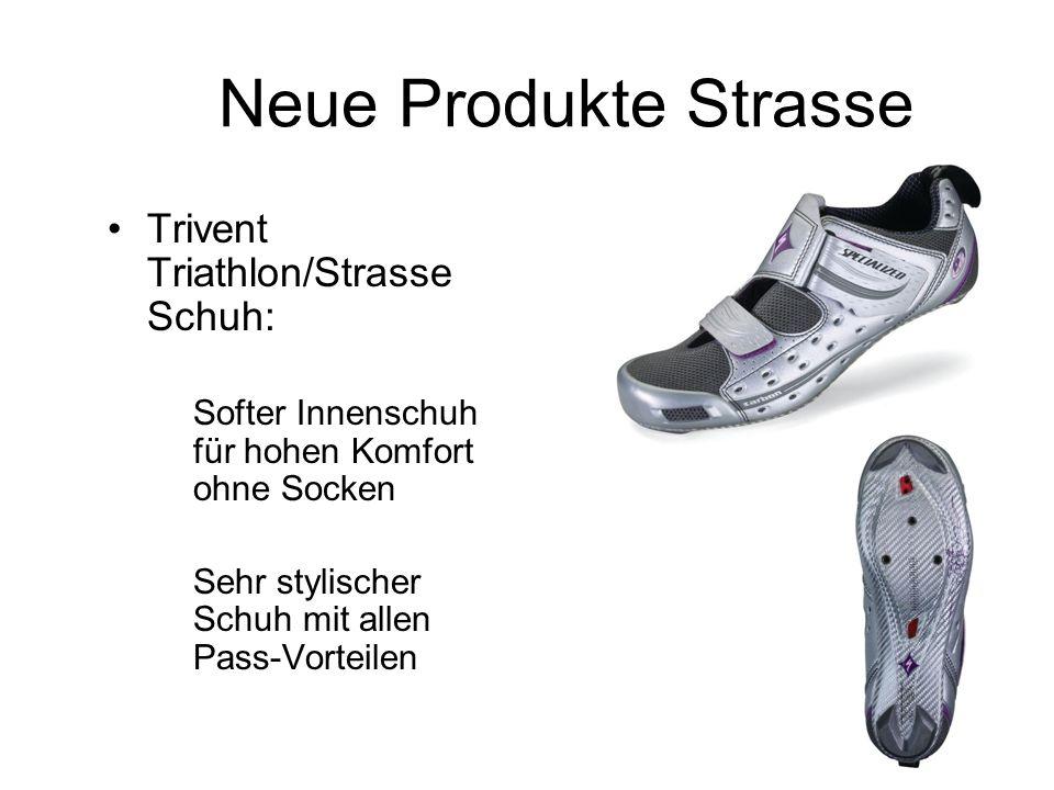 Neue Produkte Strasse Trivent Triathlon/Strasse Schuh: Softer Innenschuh für hohen Komfort ohne Socken Sehr stylischer Schuh mit allen Pass-Vorteilen