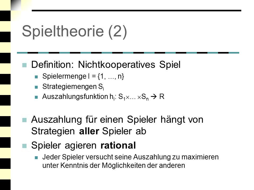 """Spieltheorie (3) Matrix – Spiele, Nullsummenspiele GN G -2-5 -2 N 0 -50 """"Gefangenendilemma G..."""