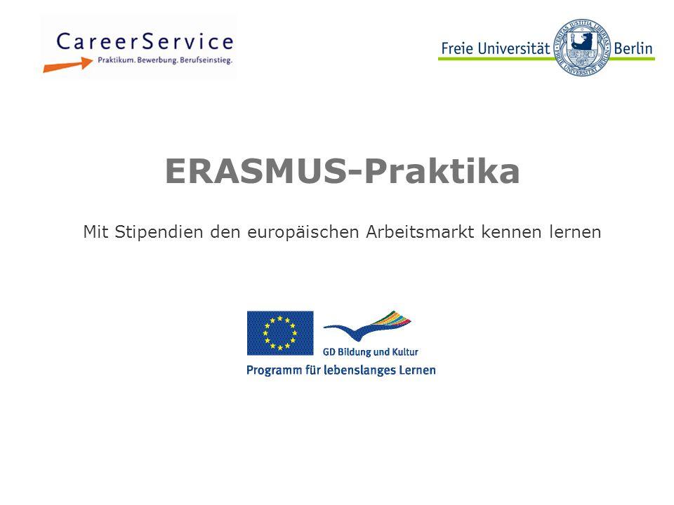 Beispielbild ERASMUS-Praktika Mit Stipendien den europäischen Arbeitsmarkt kennen lernen