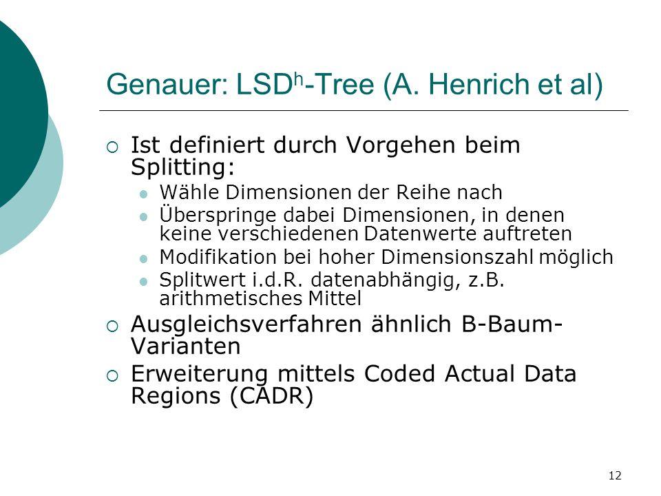 12 Genauer: LSD h -Tree (A.