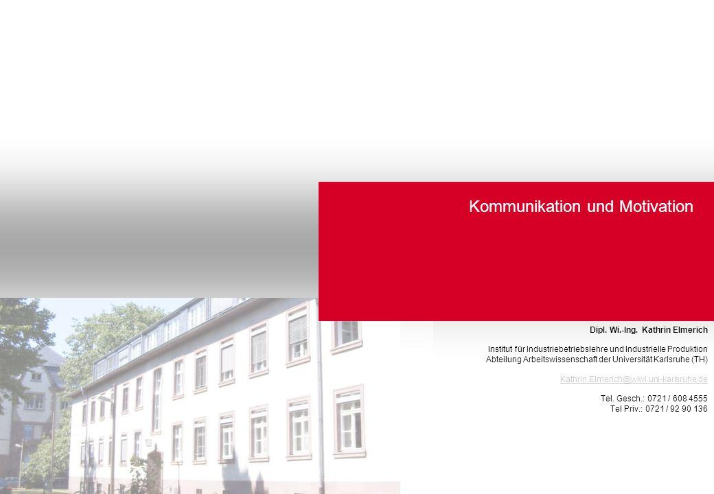 Arbeiten in virtuellen Strukturen Dipl. Wi.-Ing. Kathrin Elmerich Institut für Industriebetriebslehre und Industrielle Produktion Abteilung Arbeitswis
