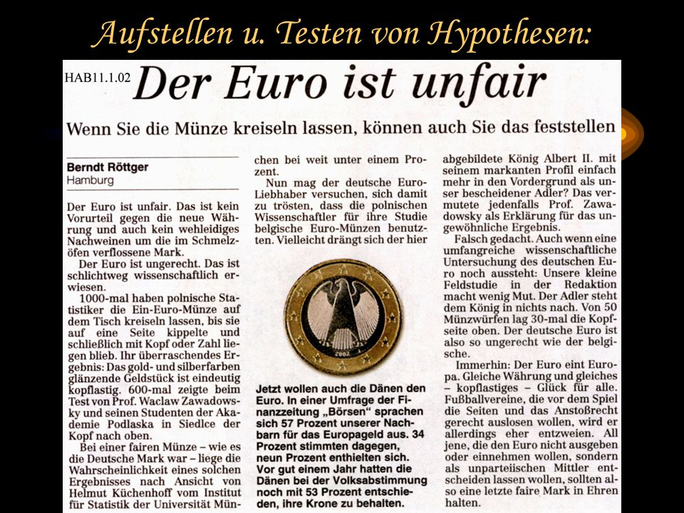 MNU Hannover 2002 Prof. Dr. Bernd Zimmermann Friedrich-Schiller-Universität Jena Aufstellen u.