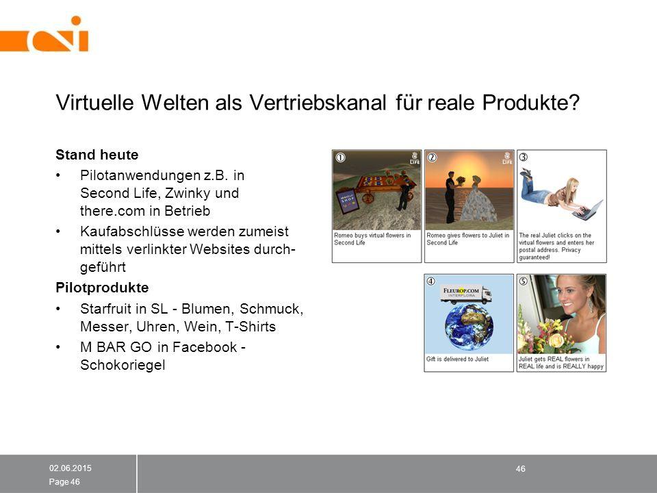 Virtuelle Welten als Vertriebskanal für reale Produkte.