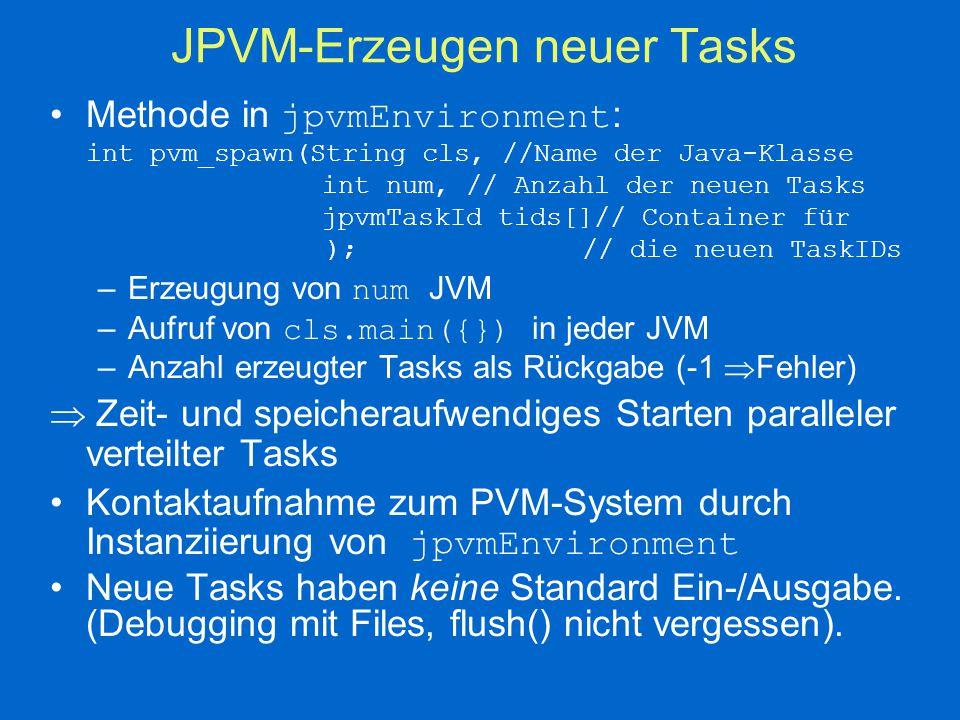 JPVM-Was noch fehlt...