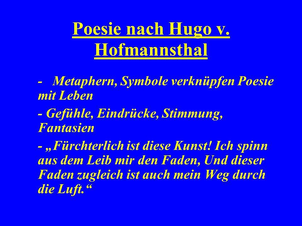 Poesie nach Hugo v.