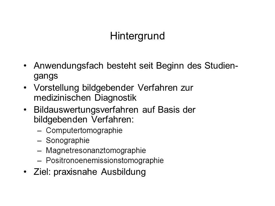 Aufbau des Anwendungsfaches - Grundstudium Lehrveranstaltung1.